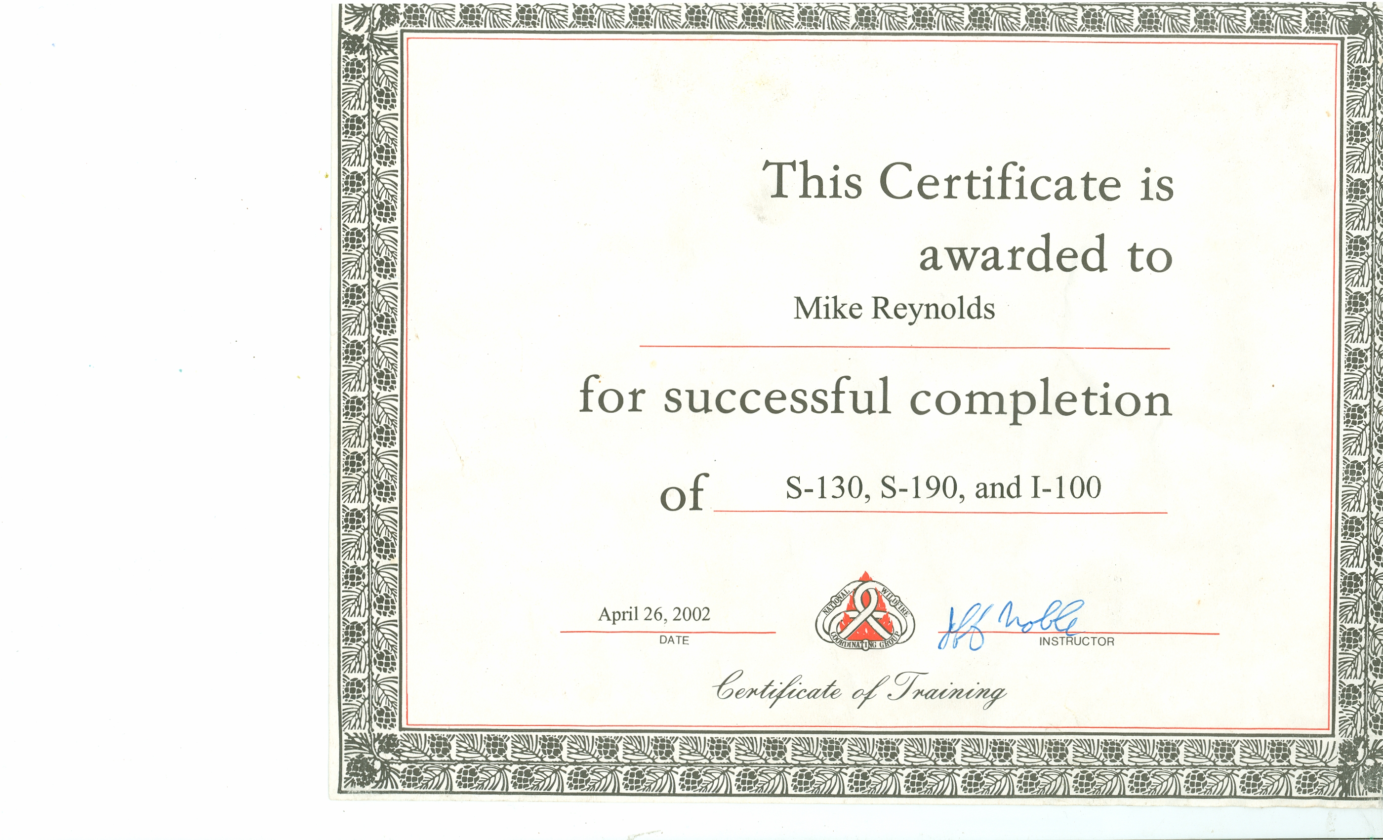 Mdr certifications basic wildland fire fighting type ii s 130 s 190 i 100 1betcityfo Image collections